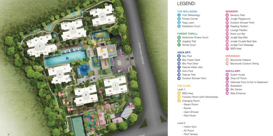 The Sky Woods Site Plan