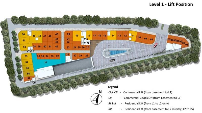 kensington square commercial site plan 1