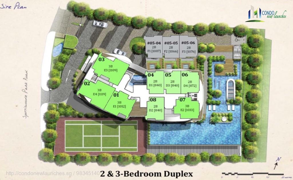 spottiswoode suites site plan duplex