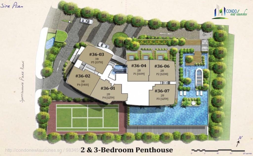 spottiswoode suites site plan penthouse