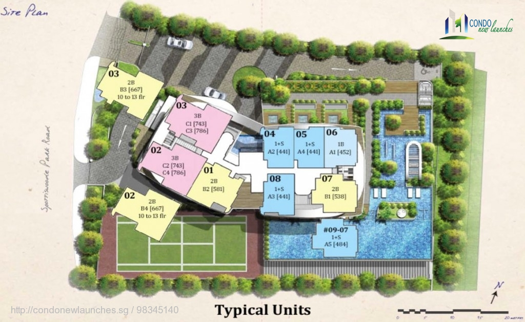 spottiswoode suites site plan typical units