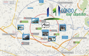 Alex Residences location map radius