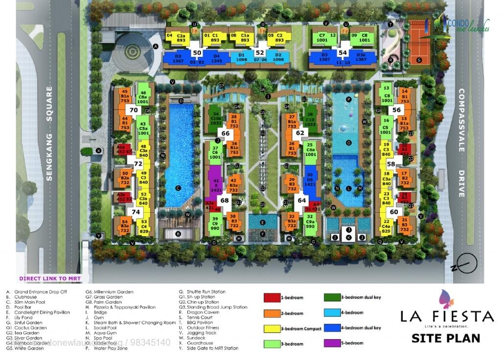 La Fiesta New Launch Site Plan
