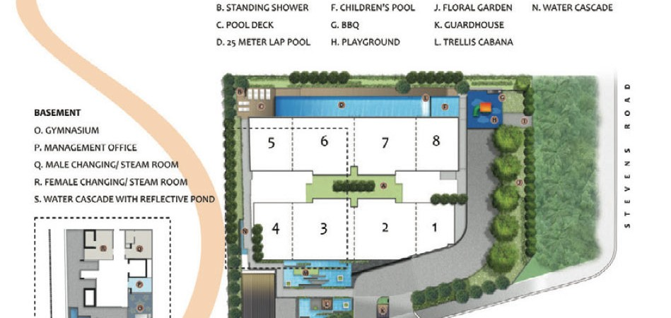 stevens suites site plan
