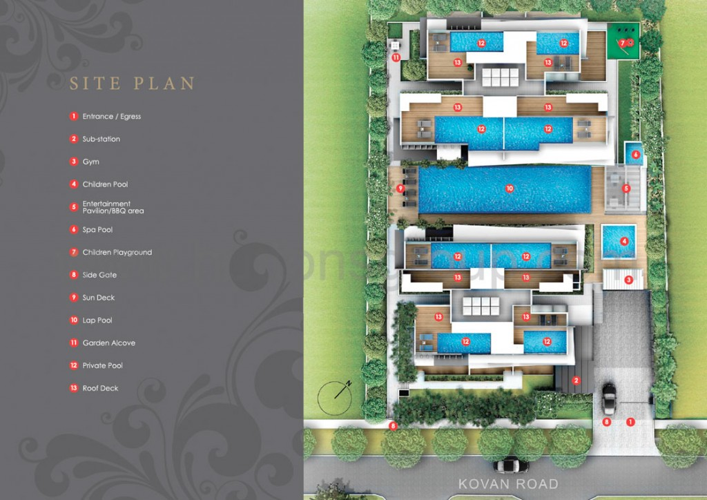 the bently residences site plan