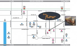 the flow location map