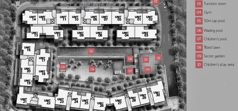 village at pasir panjang site plan