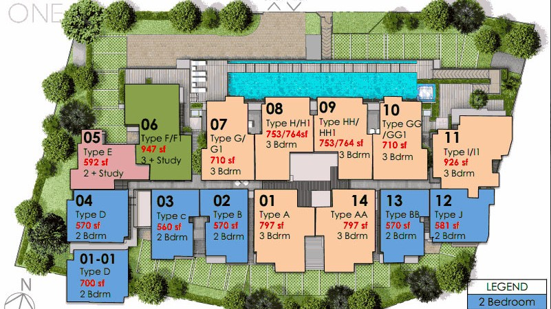 Hills TwoOne Condo Site Plan