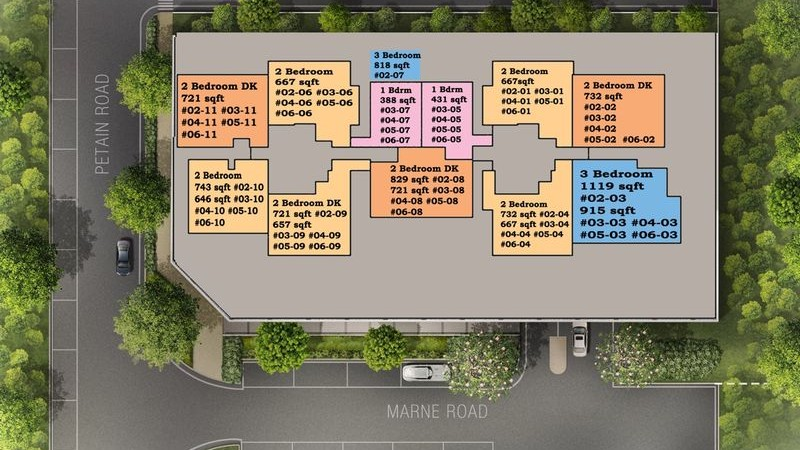 The Citron Residences site plan