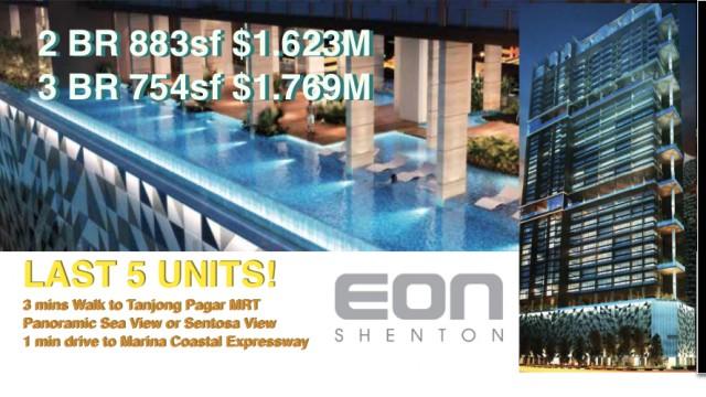 EON Shenton Last 5 Units Price Promo