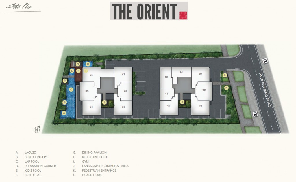 The Orient Freehold Condo _site plan