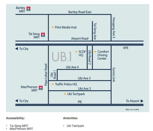 UB One B1 Industrial Location Map